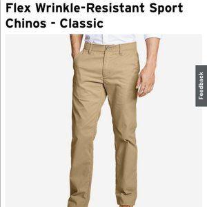 Eddie Bauer Mens Khaki Tan Pants 32x32 NWT $80